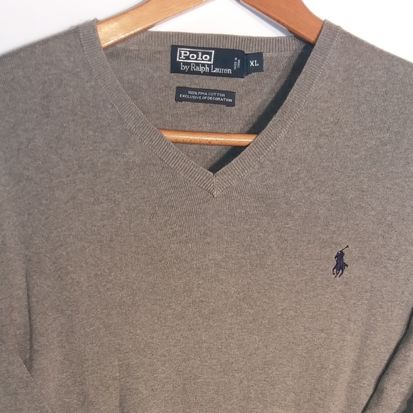 Polo Ralph Lauren Mens V-Neck Long Sleeve Pullover Sweater Navy S